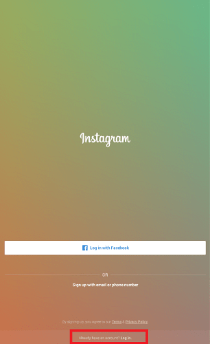 Use instagram on PC login