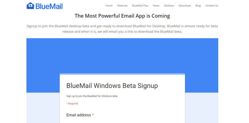 bluemail beta version