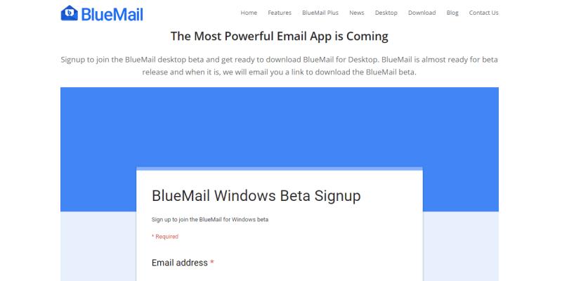 bluemail beta version