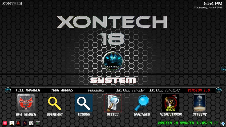 Xontech for kodi