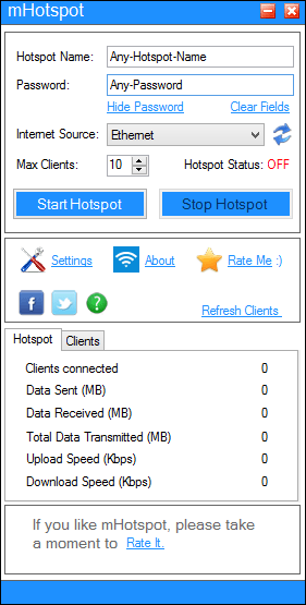 mhotspot connectify alternative