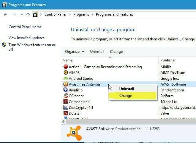 first method to uninstall Avast SafeZone browser