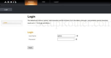 Arris Router [Login, IP, Pssword, Reset, Setup]