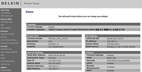 Belkin Router [Login, Setup, IP]