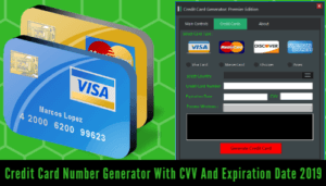 Credit card generator with an expiry date