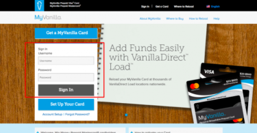 MyVanilladebitcard [Login, Register, Fees, Activate]