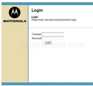Motorola Router login