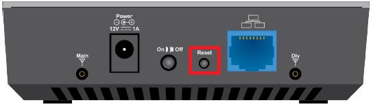 reset a Mediacom router