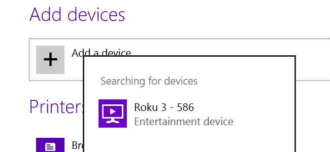 devices list, find Roku
