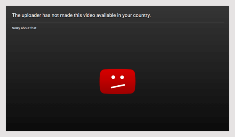 fix This video is not available in your country