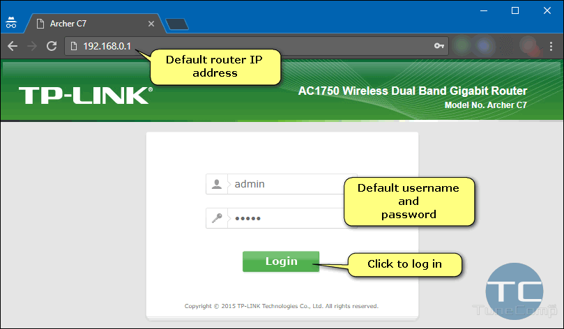 How to access the D-Link router by using 192.168.0.1