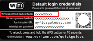 How to change the default password for the FiOS router?