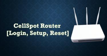 CellSpot Router [Login, Setup, Reset, Defaults]