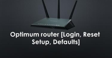 Optimum router [Login, Reset, Setup, Defaults]