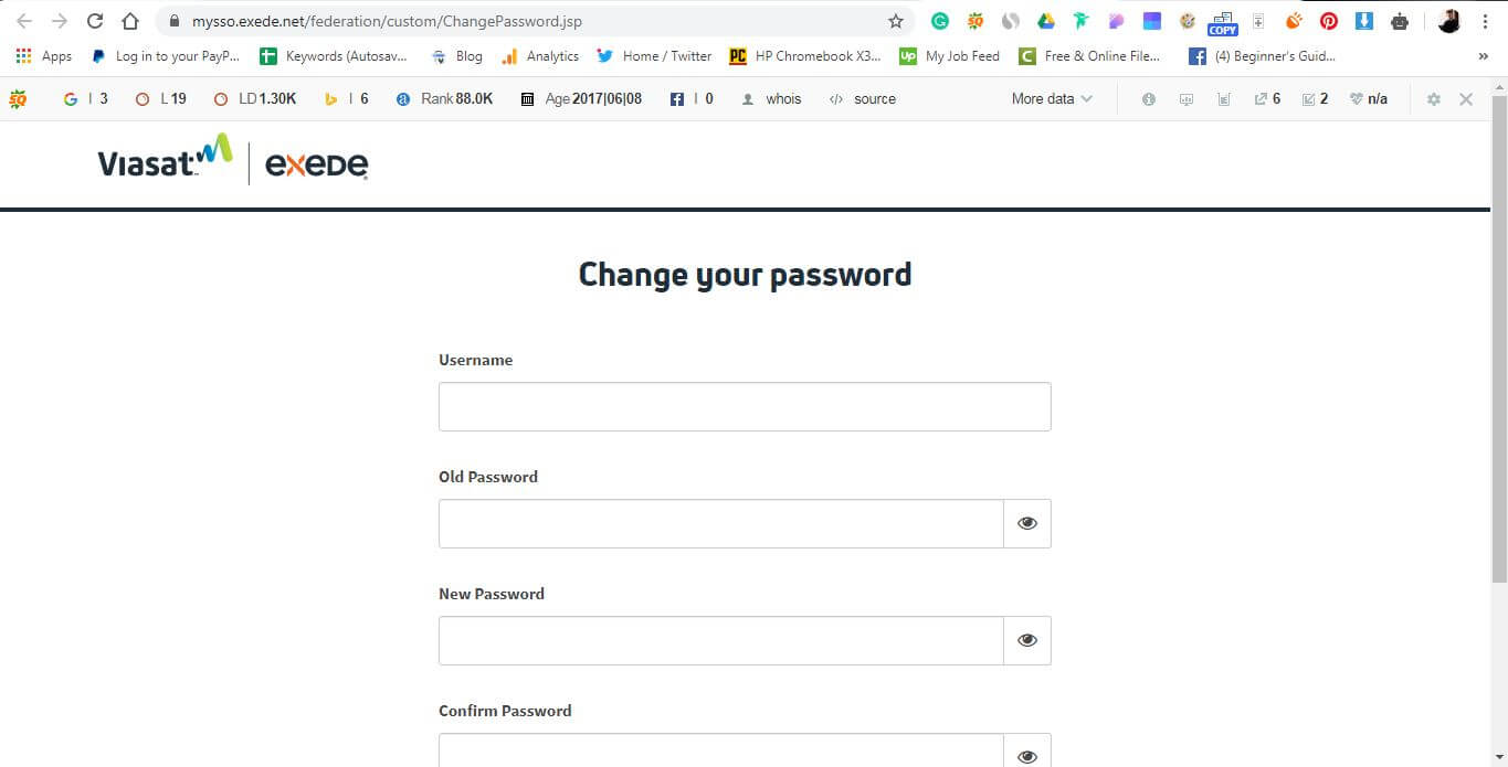 usernmae and password Exede Router: How to Change