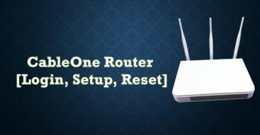 Cable One Router [Login, Setup, Reset, Defaults]