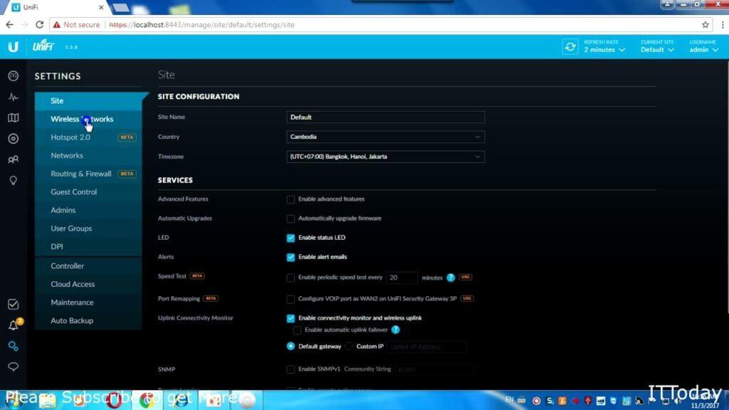 Ubiquiti Router Password Change