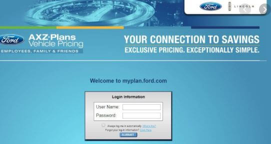 How to Log in to Tour AXZ Plan Account at Myfordbenefits Online Web Portal