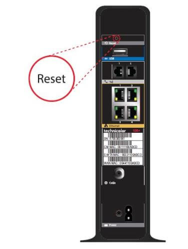 How to Reset your Technicolor TC8305 Router