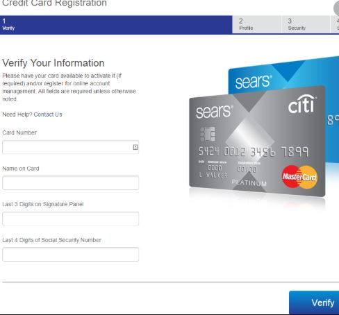 How to Sign Up Online To the Sears Credit Card Account