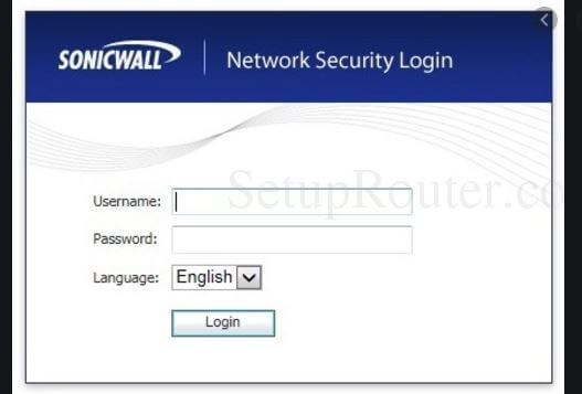 How to login to a Sonicwall Router.