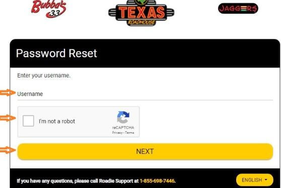 How to Reset your Texas Roadhouse Employee Login Portal Password