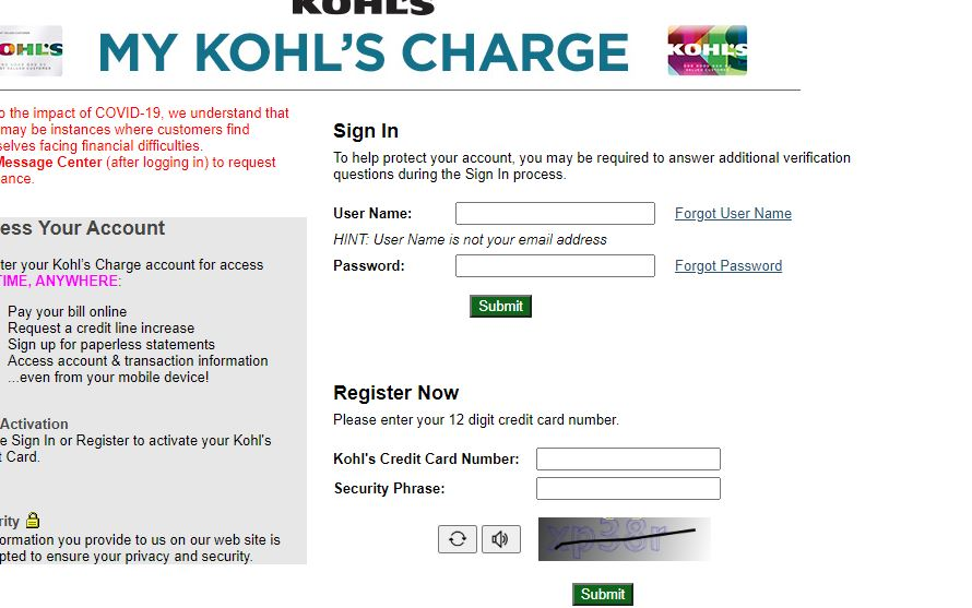 How to Sign in to Mykohlscharge Login Card Account
