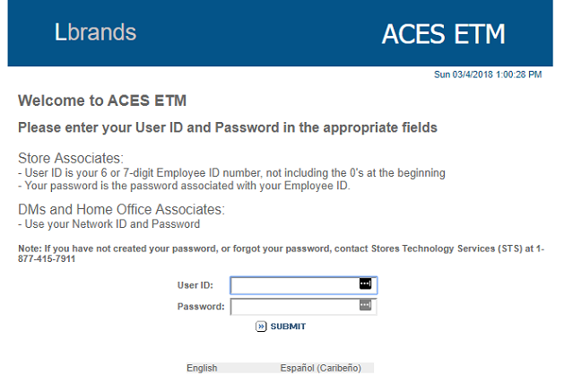 ACES ETM Portal