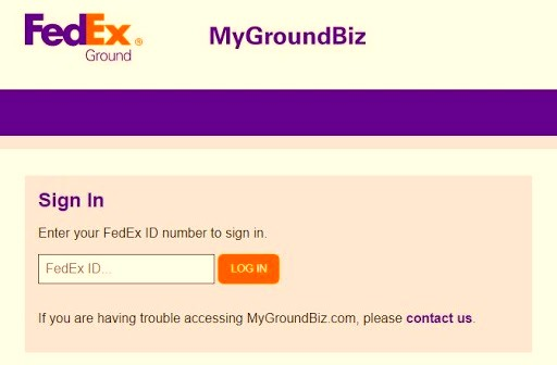 MyGroundBiz Login Process