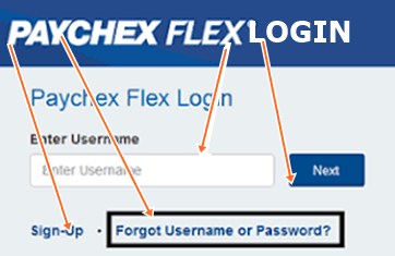 Recover Paychex Flex Password and Username