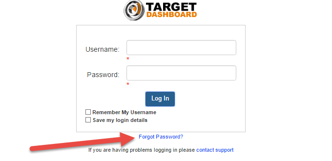 Target Red Card Password Recovery