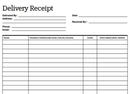 2. Delivery Receipt Templates