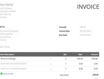 3. Zoho Invoice