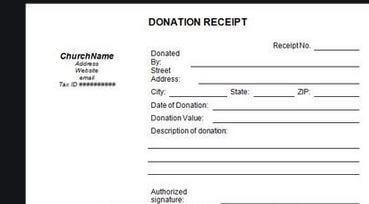 6. Donation Receipt Templates